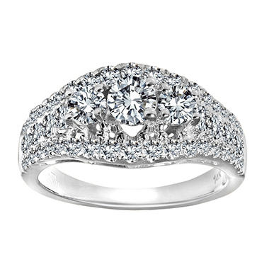 2.00 ct. t.w. Diamond Anniversary Ring in 14k White Gold (I, I1)