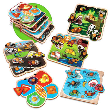 Wooden Assorted Puzzles - 5 pk.