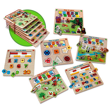 Wooden Assorted Puzzles - 6 pk.