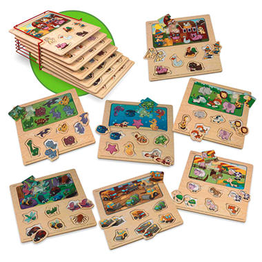 Wooden Assorted Puzzles - 7 pk.