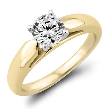 1.45 CT. Round Diamond Solitaire Ring in 14K Yellow Gold (I, I1)