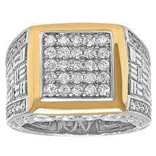 1.01 CT. T.W. Two-Tone Men's Diamond Ring (I, I1)