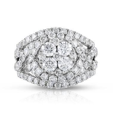 2.95 CT. T.W. Composite Enagagement Ring in 14K White Gold