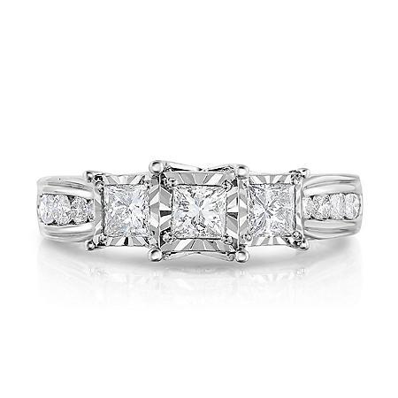 1.20 ct. t.w. Diamond Anniversary Ring in 14K White Gold