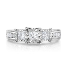 1.20 ct. t.w. Diamond Anniversary Ring in 14K White Gold