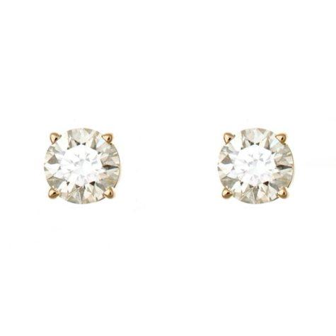 0.47 CT.T.W. Round-Cut Diamond Stud Earrings in 14K Yellow Gold (H-I, SI2)