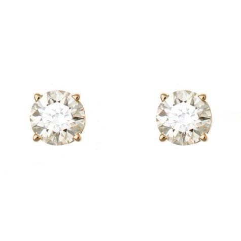 1.45 CT.T.W. Round-Cut Diamond Stud Earrings in 14K Yellow Gold (I, I1)