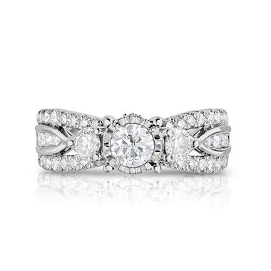 1.45 CT. T.W. Single Center Engagement Ring in 14K White Gold