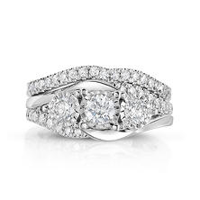 1.20 ct. t.w. Round Cut Diamond Engagement Ring in 14K White Gold