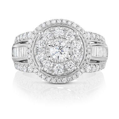 1.70 CT. T.W. Regal Engagement Ring in 14K White Gold
