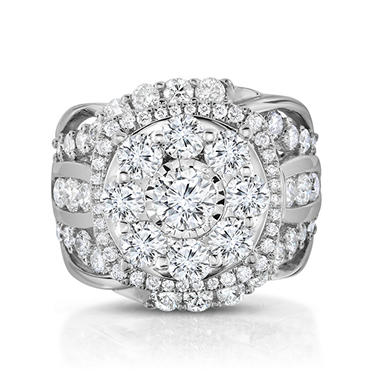 3.95 CT. T.W. Composite Engagement Ring in 14K White Gold