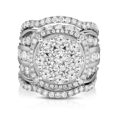 495 CT TW Single Center Engagement Ring in 14K White Gold