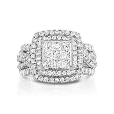 1.95 CT. T.W. Composite Engagement Ring in 14K White Gold