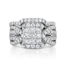 1.95 CT. T.W. Diamond Wedding Ring Set in 14K White Gold