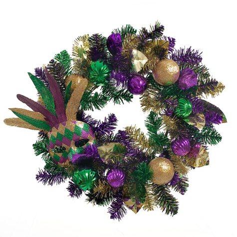 "22"" Mardi Gras Wreath"