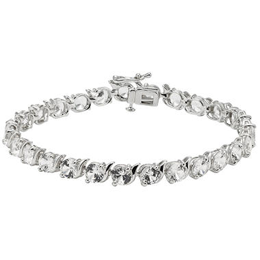 Sterling Silver Lab Created White Sapphire Bracelet Igi Appraisal