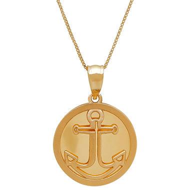 14k yellow gold anchor pendant necklace sams club 14k yellow gold anchor pendant necklace aloadofball Gallery