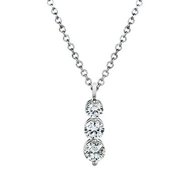 Premier Diamond Collection 0.51 CT. T.W. Three Stone Diamond Drop Pendant in Platinum - IGI (G-H, VS1-2)
