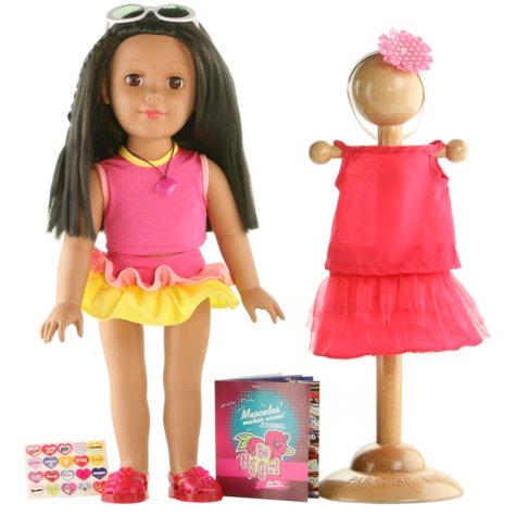"Miami Hispanic 18"" Doll - Inspired By the Beach"