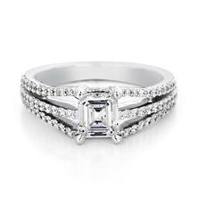 Premier Diamond Collection 1.49 CT. T.W. Emerald Diamond Engagement Ring in 18K White Gold - GIA & IGI (D, VS2)