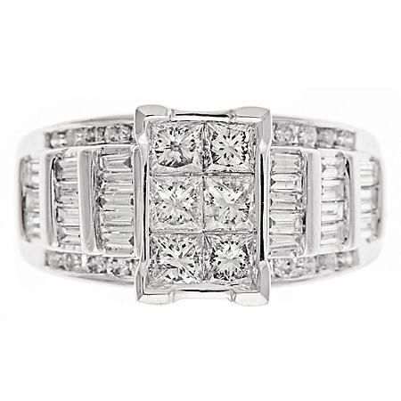 1.95 CT. T.W.  Diamond Fashion Ring in 14K White Gold