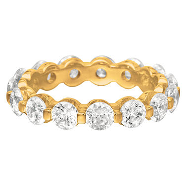 14K Yellow Gold Prong-Set Diamond Eternity Band (I, I1) - 4mm