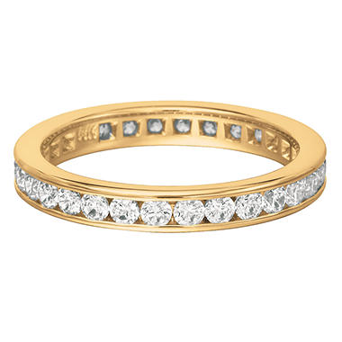 Channel-Set Diamond Eternity Band in Yellow Gold - 3.5mm (I, SI2)
