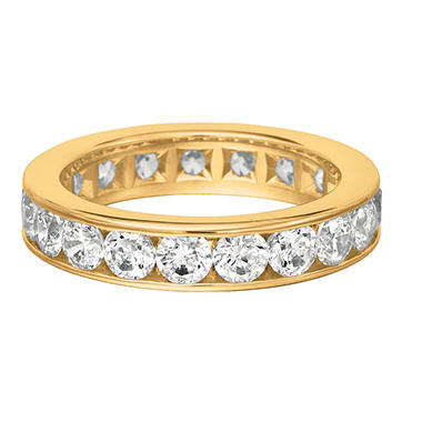 ring bands g diamond eternity yellow gold band h