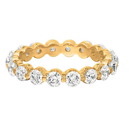 Prong-Set Diamond Eternity Band in 14K Yellow Gold - 3.5mm (I, SI2)
