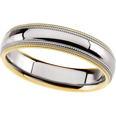 Gents Two-Tone Gold Wedding Band