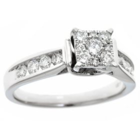 0.75 CT. T.W. Diamond Composite Engagement Ring in 14K White Gold