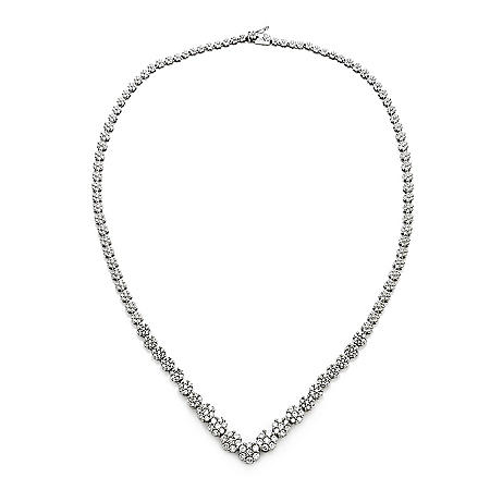 3.00 CT.TW. Round Diamond Fashion Necklace in 14K White Gold HI, I1