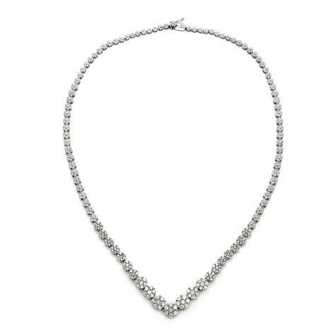 3.00 CT.TW. Round Diamond Fashion Necklace in 14K White Gold HI, I1