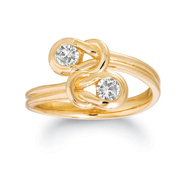 .75 ct. t.w. Everlon™ Diamond Twin-Knot Ring in 14K Yellow Gold (I, I1)