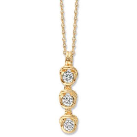 0.50 ct. t.w. Everlon™ Diamond Three-Stone Pendant in 14K Yellow Gold (I, I1)