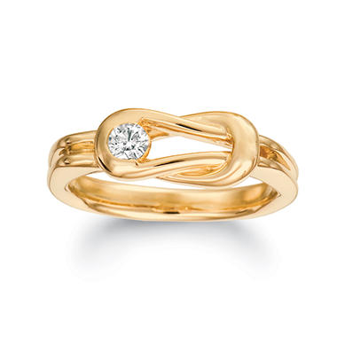 .75 ct. Everlon™ Diamond Gents Ring in Yellow Gold (I, I1)