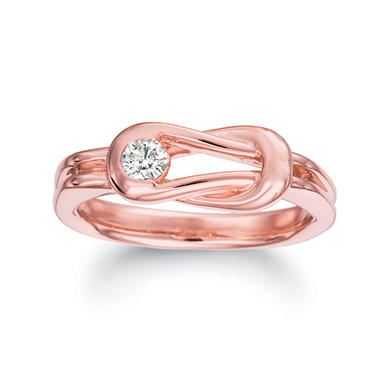 .75 ct. t.w. Everlon™ Diamond Gents Ring in 14K Rose Gold (I, I1)