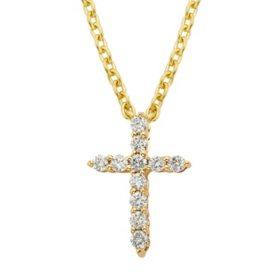 .25 CT. T.W. Diamond Cross Pendant in 14k Gold (H-I, I1)