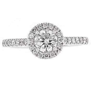 1.0 ct. t.w. Round Diamond Ring in 14K White Gold (H-I, I1)