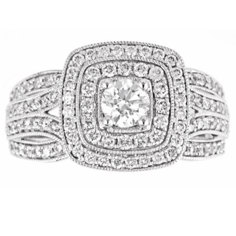 Regal 1.0 ct. t.w. Round Diamond Ring in 14K White Gold (I, SI2)