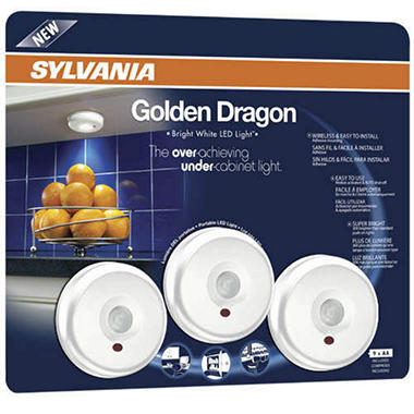 Sylvania LED Dragon Cabinet Light - White - 3 pk.