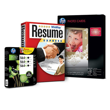 HP 564XL Black Inkjet Cartridge 3 pk and Resume Software Bundle
