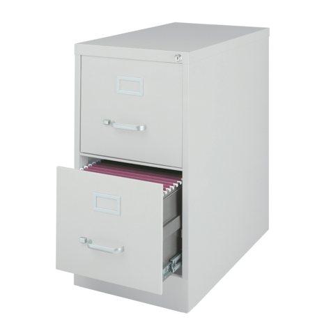 """Hirsh 25"""" 2-Drawer Letter File Cabinet, Select Color"""