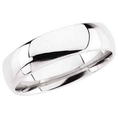 14K White Gold Comfort Fit Band - 6mm