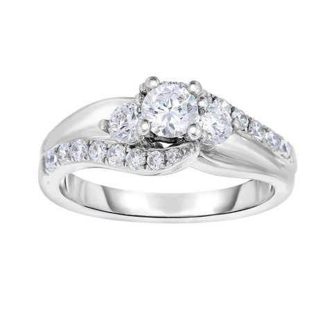 1 CT. T.W. Diamond Engagement Ring in 14K White Gold (HI, VS)