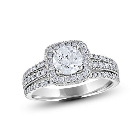 2 CT. T.W. Diamond Enagaement Ring in 14K White Gold (HI, VS)