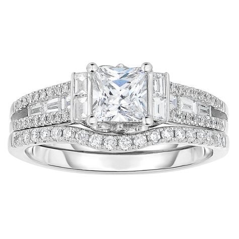 1.5 CT. T.W. Diamond Engagement Ring in 14K White Gold