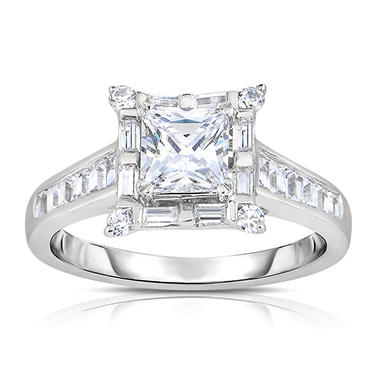 1.88 CT. T.W. Diamond Engagement Ring in 14K White Gold (HI, VS)