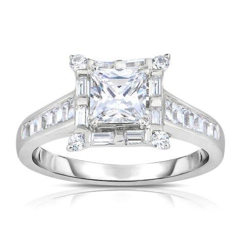 1.88 CT. T.W. Diamond Engagement Ring in 14K White Gold (HI, VS)