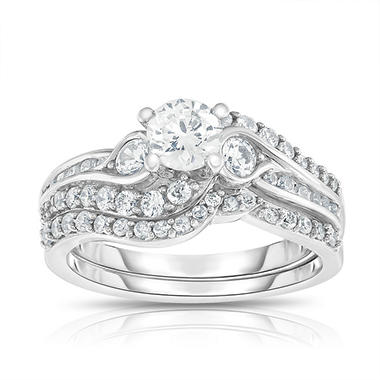 1.25 CT. T.W. Diamond Bridal Set in 14K White Gold (HI, VS)